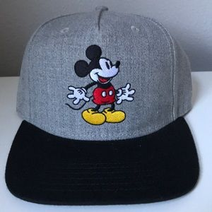 Embroidered Disney Mickey Mouse Snapback Hat